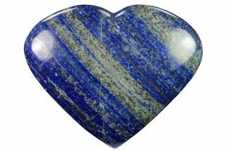 "4.8"" Polished Lapis Lazuli Heart - Pakistan For Sale, #170954"