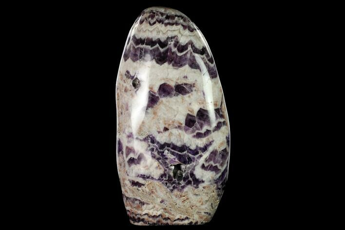 "10.3""  Tall, Free-Standing, Polished Chevron Amethyst - Brazil"
