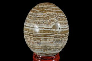 "Buy 2.3"" Polished, Banded Aragonite Egg - Morocco - #172831"