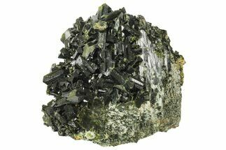 "Lustrous, 4.6"" Epidote Crystal Cluster on Actinolite - Pakistan For Sale, #164843"