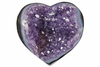"4"" Purple Amethyst & Agate Heart - Uruguay For Sale, #172031"