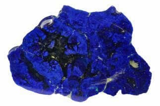 "Buy 2.6"" Vivid Blue, Cut/Polished Azurite Nodule - Siberia - #175576"