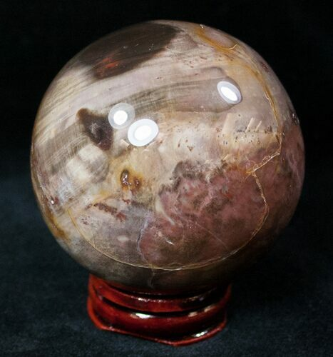 "2.5"" Red Petrified Wood Sphere"